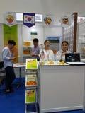 马来西亚食物&饮料国际贸易公平在KLCC 免版税库存照片