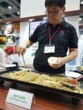 马来西亚食物&饮料国际贸易公平在KLCC 库存图片