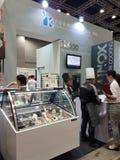 马来西亚食物&饮料国际贸易公平在KLCC 库存照片