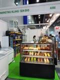 马来西亚食物&饮料国际贸易公平在KLCC 免版税库存图片