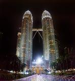 马来西亚首都吉隆坡市中心KLCC天然碱孪生 免版税库存照片
