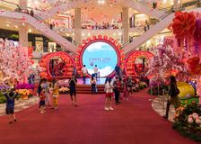 马来西亚,吉隆坡- 2月2018 05日:五颜六色的装饰 库存图片
