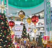 马来西亚,吉隆坡- 12月2017 07日:亭子购物的mal 库存图片