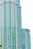 马来西亚,吉隆坡- 12月2017 07日-天然碱双塔KLCC窗口  免版税库存照片