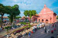 马来西亚- 2017年2月10日: :麦红色基督教会地标  免版税图库摄影
