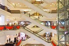 马来西亚购物中心购物正方形时间 库存图片