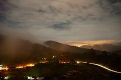 马来西亚 金马仑高原通过平衡 库存图片