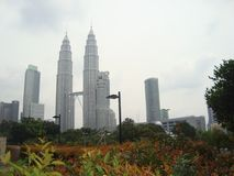 马来西亚` s姊妹楼 免版税库存图片