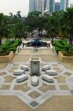 马来西亚a的全国清真寺的庭院 K Masjid Negara 免版税库存图片