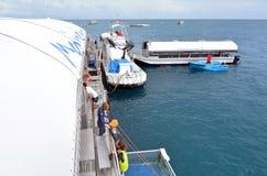 马林平台在大堡礁在昆士兰, Australi 免版税图库摄影