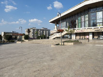 马林Sorescu剧院,克拉约瓦,罗马尼亚 免版税库存照片