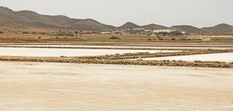 马查马洛3月Menor盐舱内甲板,穆尔西亚,西班牙 图库摄影