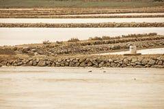 马查马洛3月Menor盐舱内甲板,穆尔西亚,西班牙 免版税图库摄影