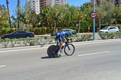 马格纳斯尼尔森Orica自行车交换车手 免版税图库摄影