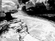 马格达莱纳海峡,圣AgustÃn,乌伊拉省哥伦比亚,黑白 免版税图库摄影