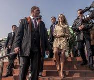 马格达莱纳Ogorek,共和国波兰的总统的候选人 库存照片