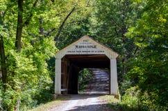 马歇尔桥梁在印第安纳 免版税库存图片