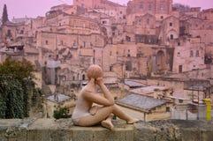 马泰拉古城 库存照片