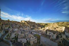 马泰拉老镇在南意大利 库存照片