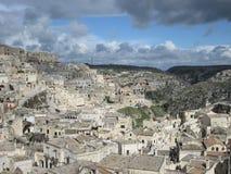 马泰拉,南的意大利 免版税库存照片