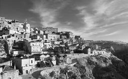 马泰拉,Sasso Barisano 免版税图库摄影
