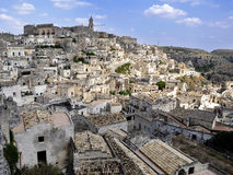 马泰拉-意大利的Sassi 库存图片