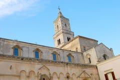 马泰拉Sassi和它的大教堂-巴斯利卡塔意大利172城市 库存图片