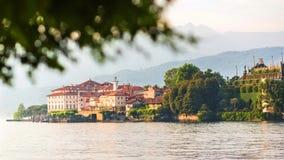 马焦雷湖斯特雷萨,山麓意大利 免版税库存照片