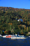 马焦雷湖,意大利,欧洲风景看法  免版税库存图片
