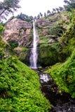 马特诺玛瀑布,在新娘面纱,俄勒冈的瀑布 图库摄影