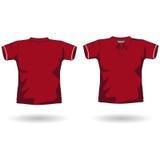 马球红色衬衣 库存照片