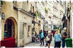 马瑞斯区,巴黎,法国 库存照片