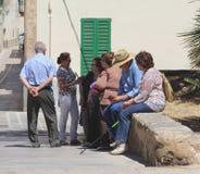 马略卡原始的居民获得乐趣,西班牙 免版税库存照片