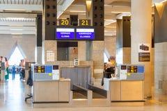 马略卡岛帕尔马机场门 库存图片
