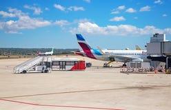 马略卡岛帕尔马机场 免版税库存照片