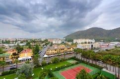 马略卡市-从旅馆客房的看法 图库摄影