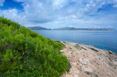 马略卡海岸的美好的颜色 图库摄影