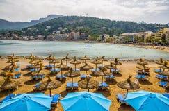 马略卡海滩  免版税库存照片