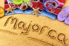 马略卡海滩 图库摄影