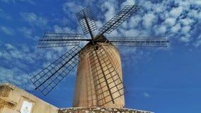 马略卡风车,西班牙 免版税库存照片