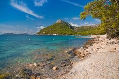 马略卡Formentor海滩 免版税库存图片