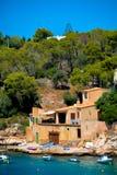 马略卡habour风景 免版税图库摄影