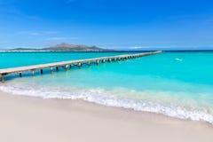 马略卡Platja de穆罗角海滩Alcudia海湾马略卡 库存图片