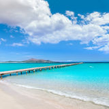 马略卡Platja de穆罗角海滩Alcudia海湾马略卡 免版税库存照片