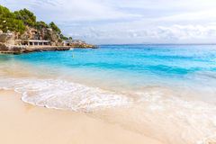 马略卡Playa de Illetas海滩马略卡Calvia 免版税库存照片