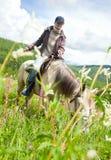 马的妇女 免版税库存照片