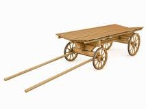 马的木推车 向量例证