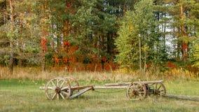 马的老支架 免版税库存照片