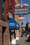 马礼逊` s餐馆,街市金斯敦 图库摄影