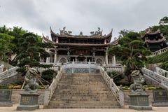 马祖寺庙曲拱 库存图片